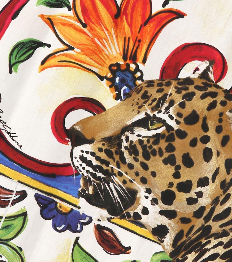Dolce & Gabbana Bedruckter Midirock aus Baumwolle