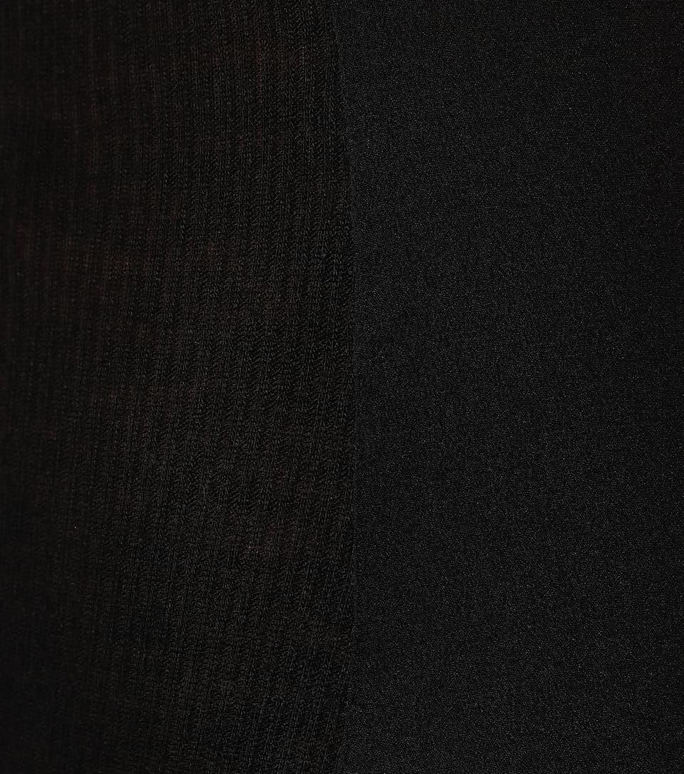 sin Vestido con Heliodor mangas seda de mezcla Haider Ackermann E5SqZZ