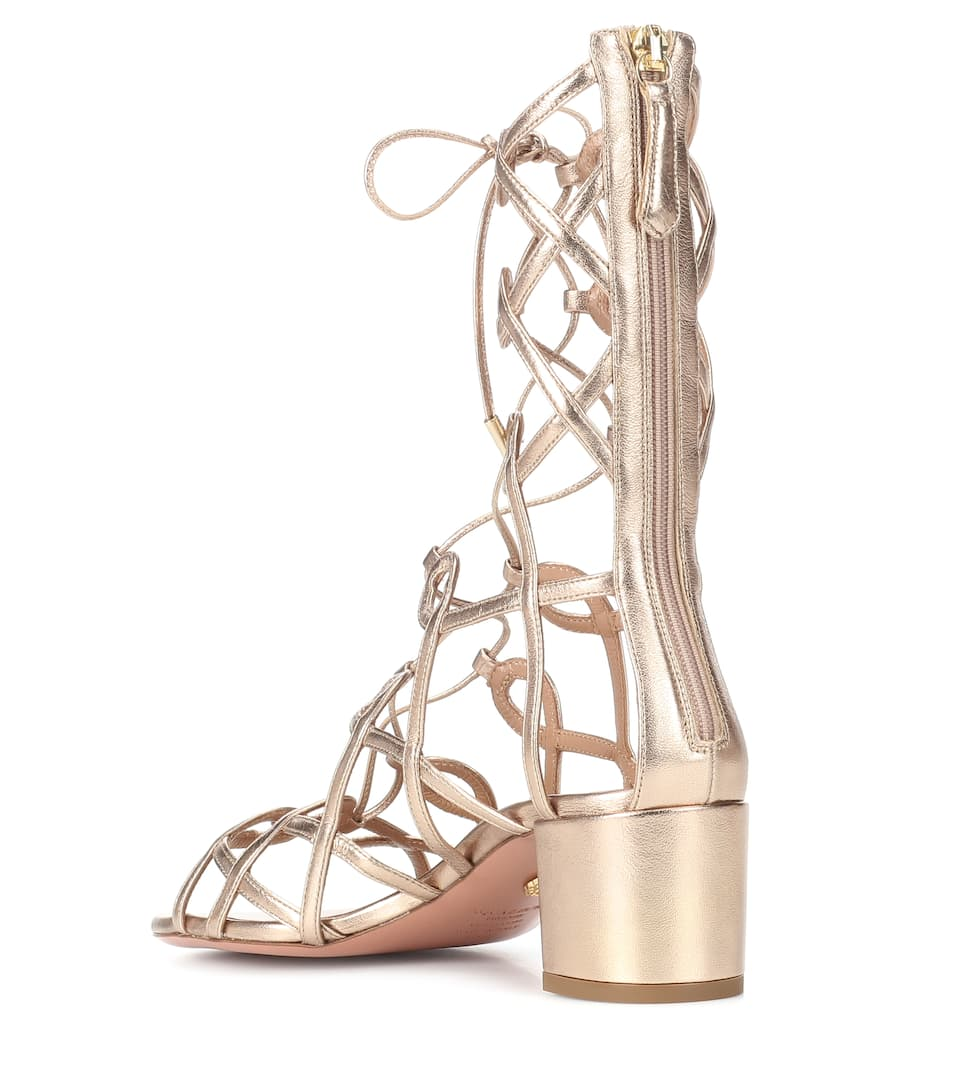 Aquazzura Mumbai Gladiator 50 leather sandals 9PaPepLc