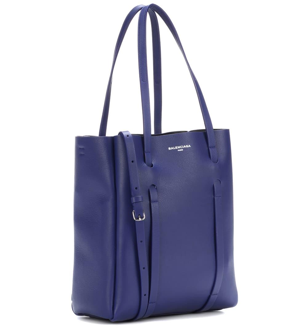 tote Balenciaga Everyday cuero XS Noir de Bleu Pacifique qqRnExgr