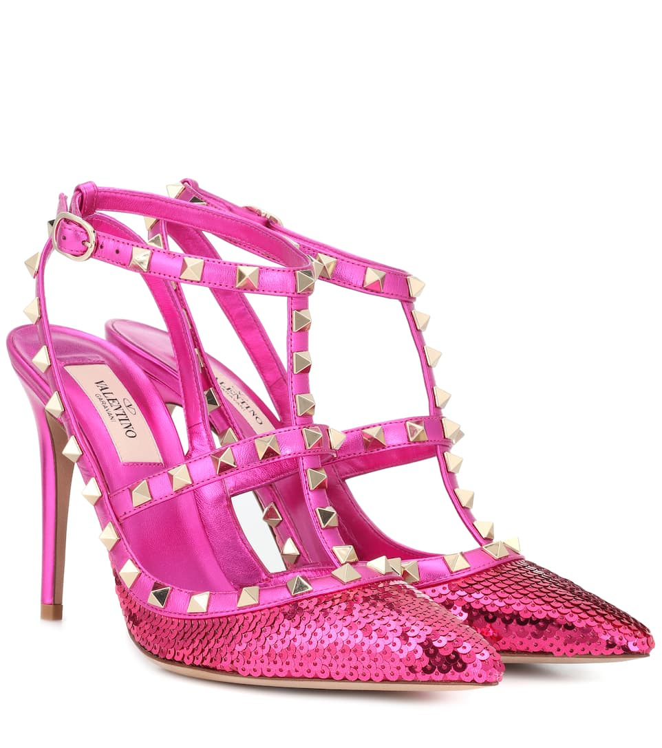 Valentino Garavani Valentino Garavani Rockstud sequinned leather pumps clearance exclusive comfortable for sale supply cheap online shop for cheap online visit new cheap online vPPsJSEa
