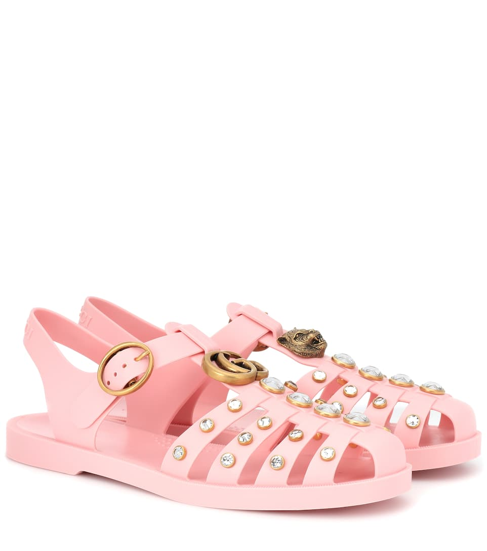 1bf27eca38f0 Crystal-Embellished Jelly Sandals
