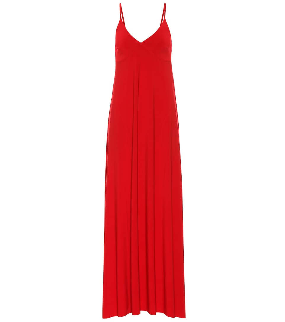 b2a21aa95ed Stretch-Jersey Maxi Slip Dress - Norma Kamali