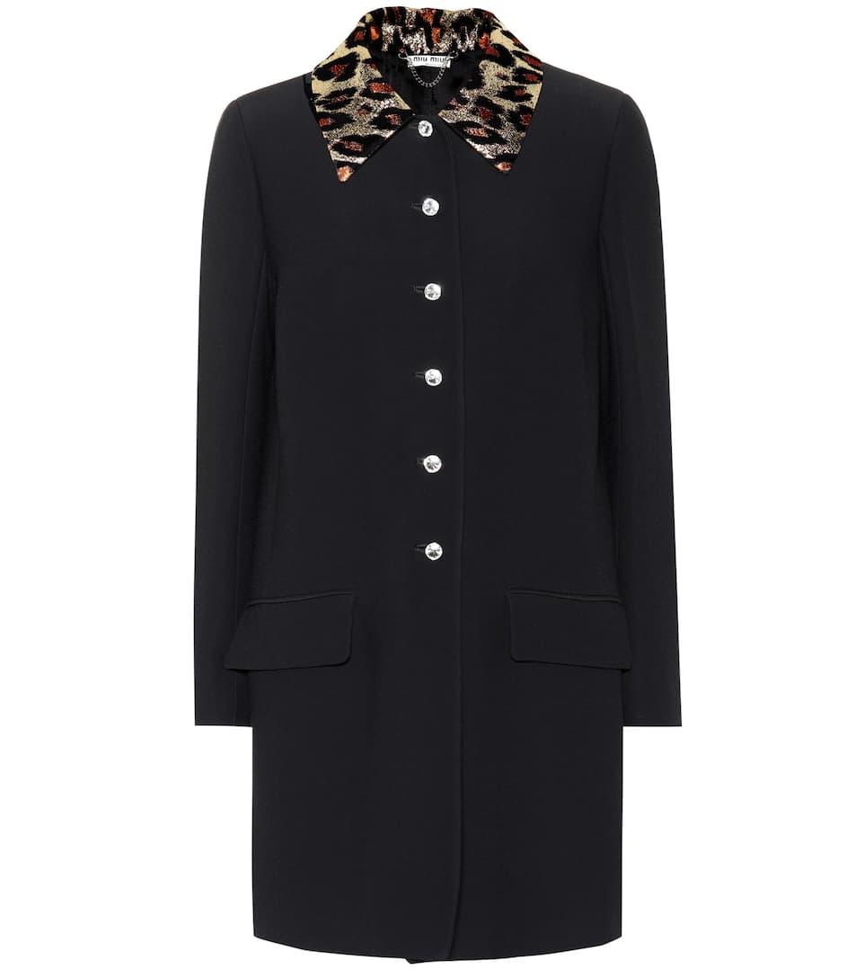 12f8f522f956 Miu Miu - Crystal embellished coat