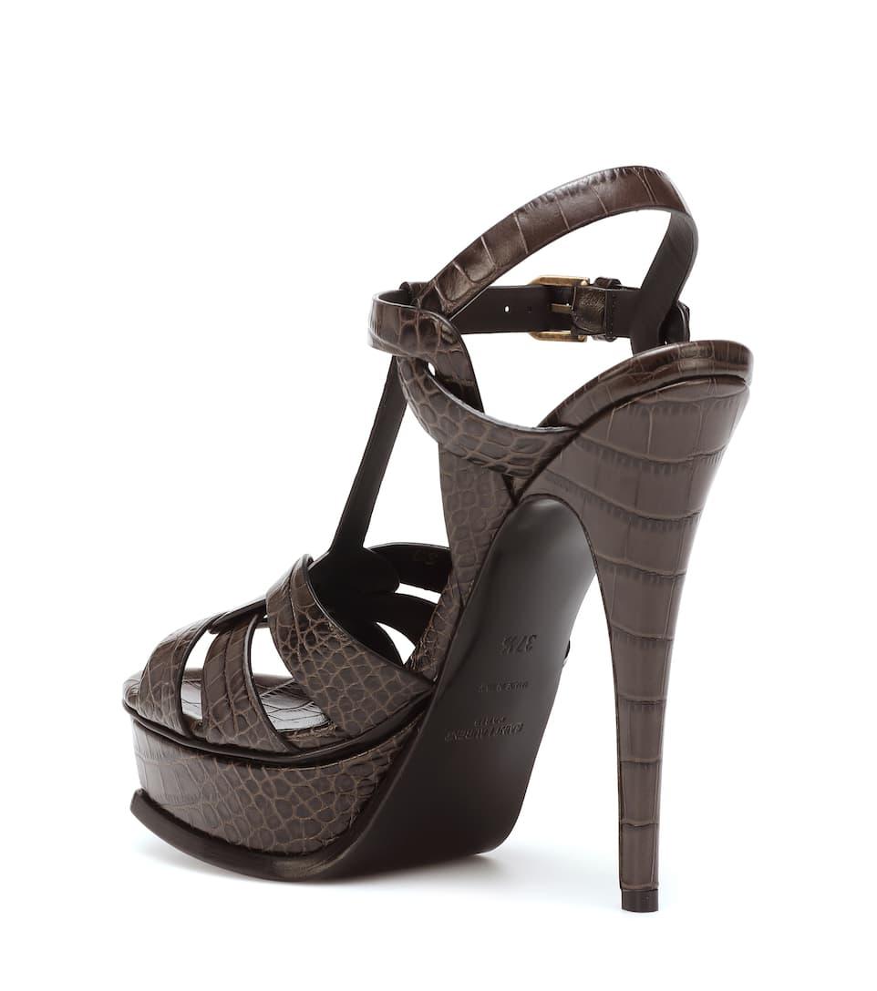 71e063812d Tribute 105 Leather Sandals | Saint Laurent - mytheresa