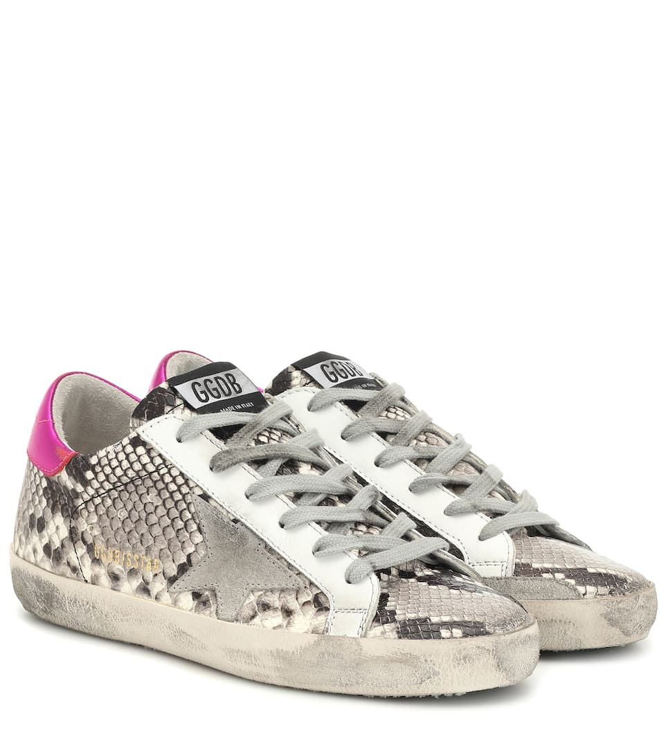 vendite calde 4350c 444aa Superstar embossed leather sneakers