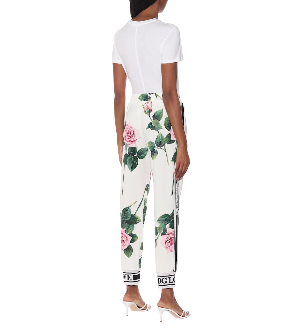 Dolce & Gabbana - Floral high-rise trackpants