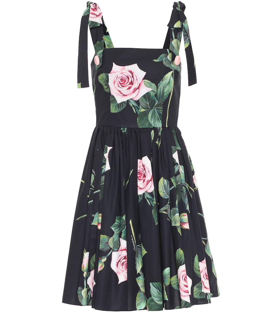 Vestido Corto De Algodón Floral