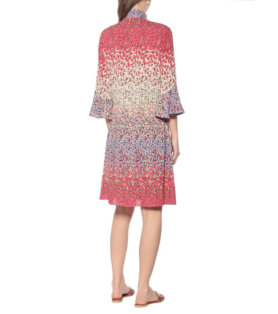 Etro - Floral stretch-crêpe minidress