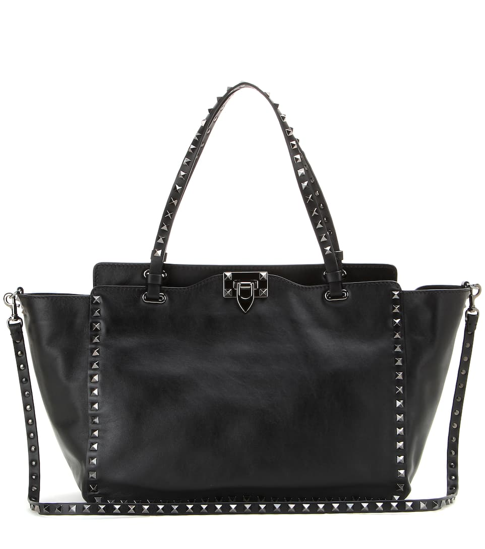 Valentino Rockstud Noir Small leather tote