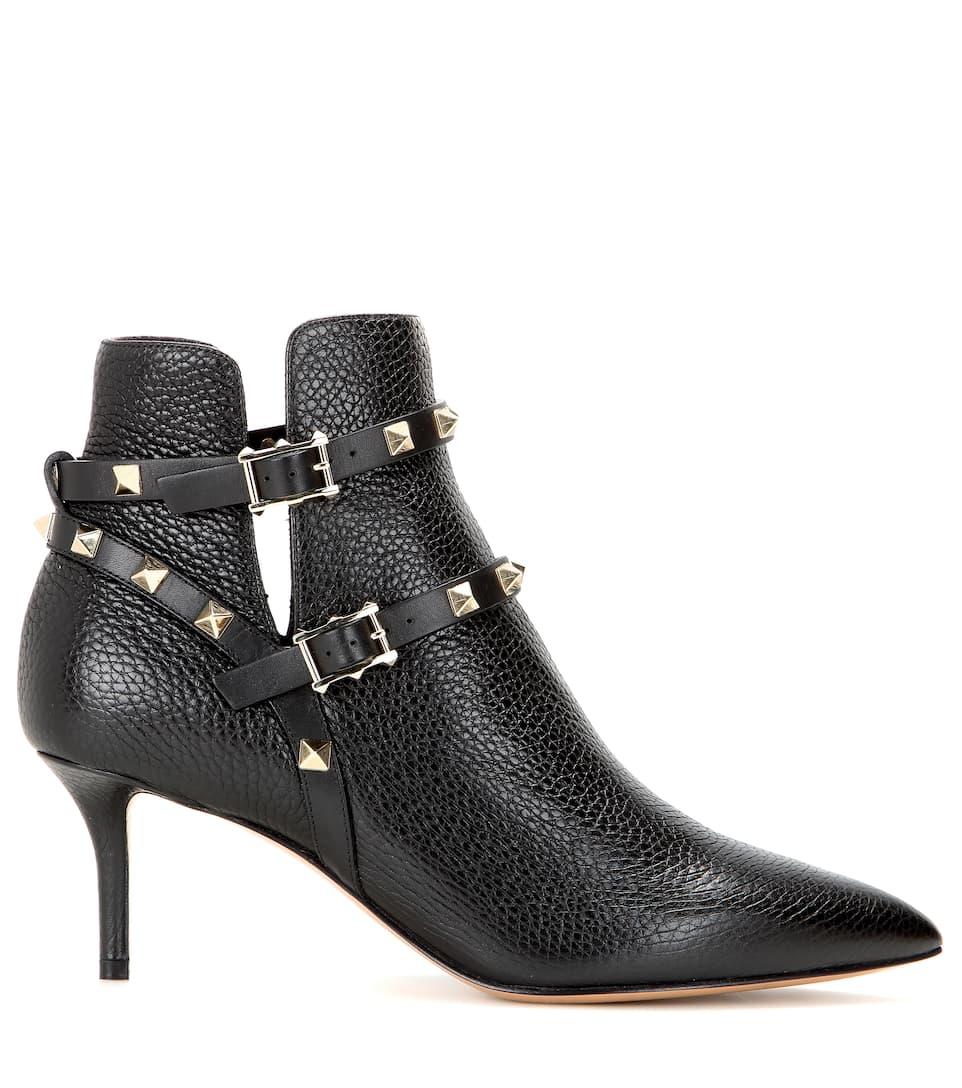 Billig Online-Shop Manchester Kaufen Billig Großhandelspreis Valentino Valentino Garavani Ankle Boots Rockstud aus Leder Billig Klassisch Einen Günstigen Preis Preise Und Verfügbarkeit Für Verkauf kd9dl98