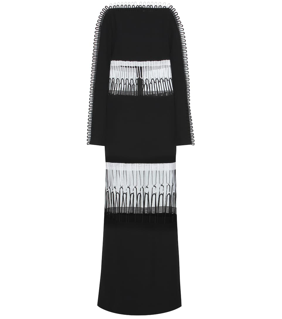Christopher Kane Guipure lace, tulle and crêpe dress