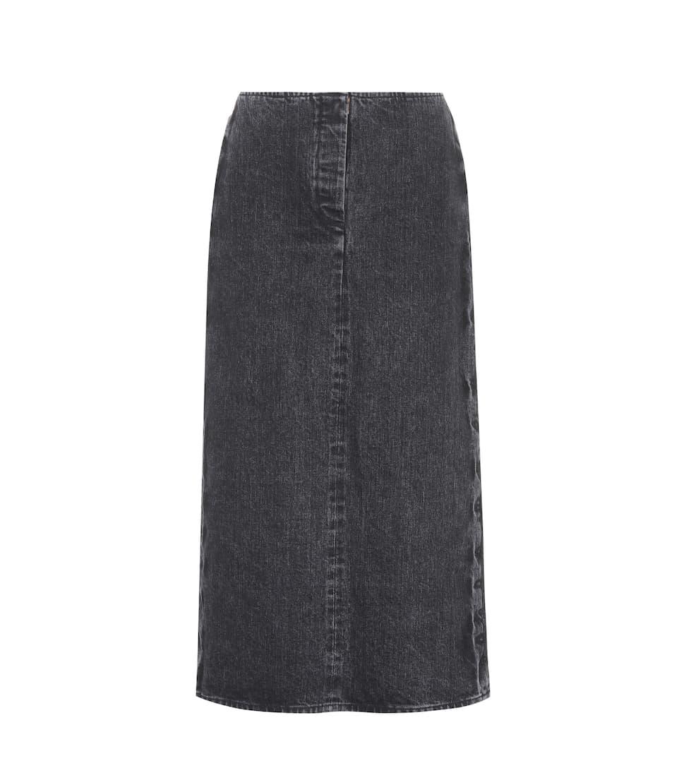 'Deni' high waisted denim skirt