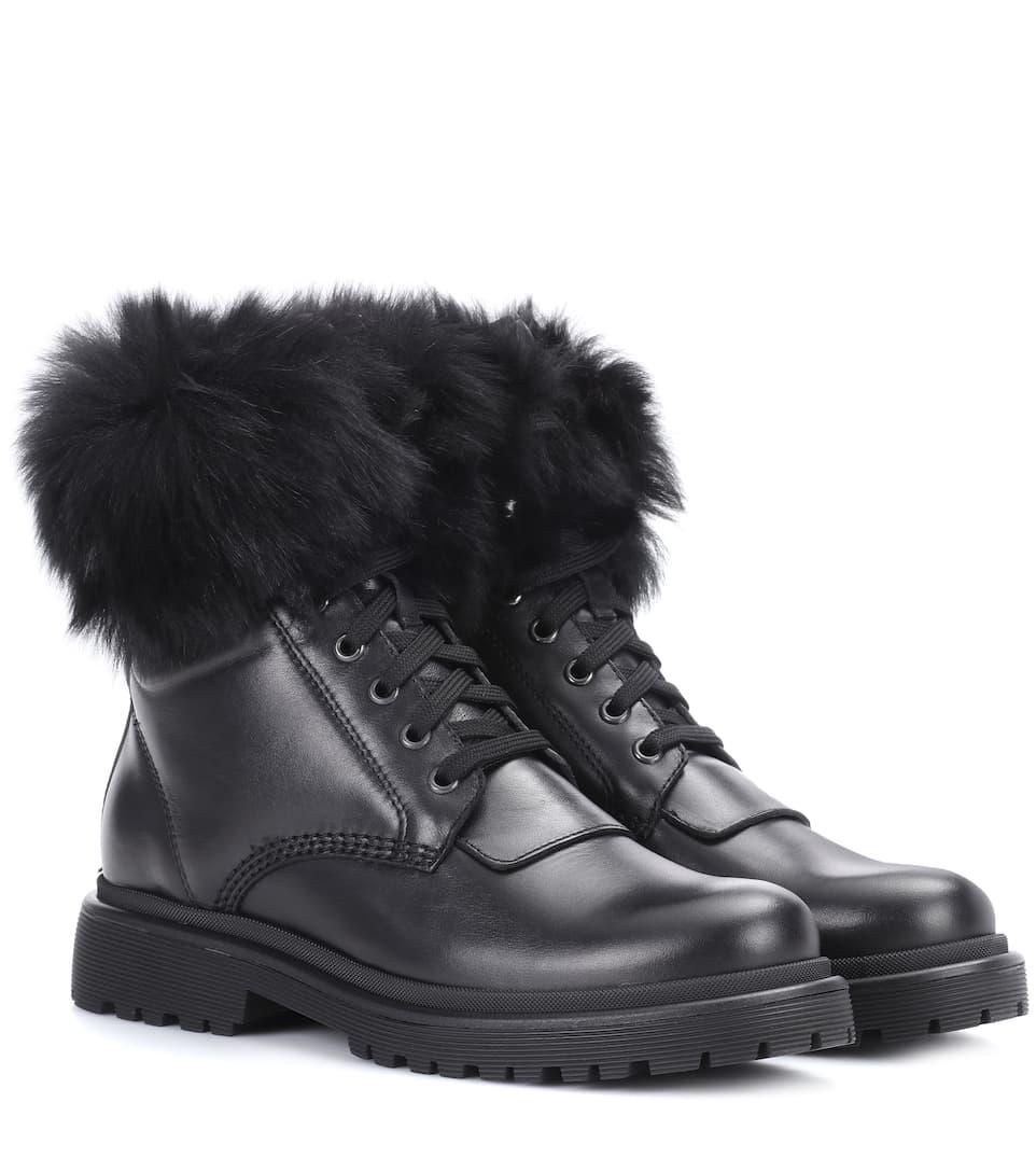 Moncler Ankle Boots Patty aus Leder