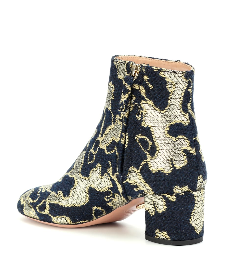 Exclusive to mytheresa.com - Brooklyn 50 brocade ankle boots Aquazzura fB5g7