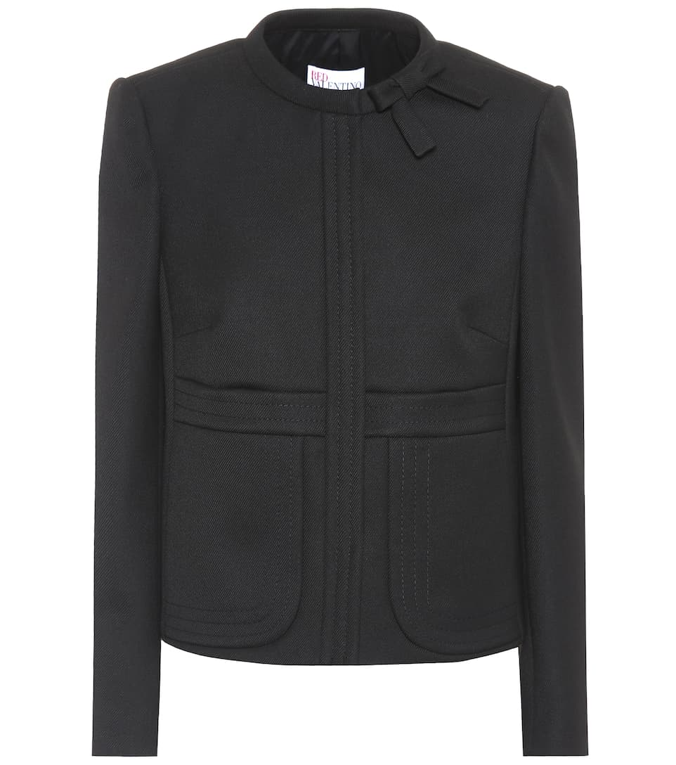 REDValentino Cropped jacket Nero Buy Cheap Latest Collections zj1q7F
