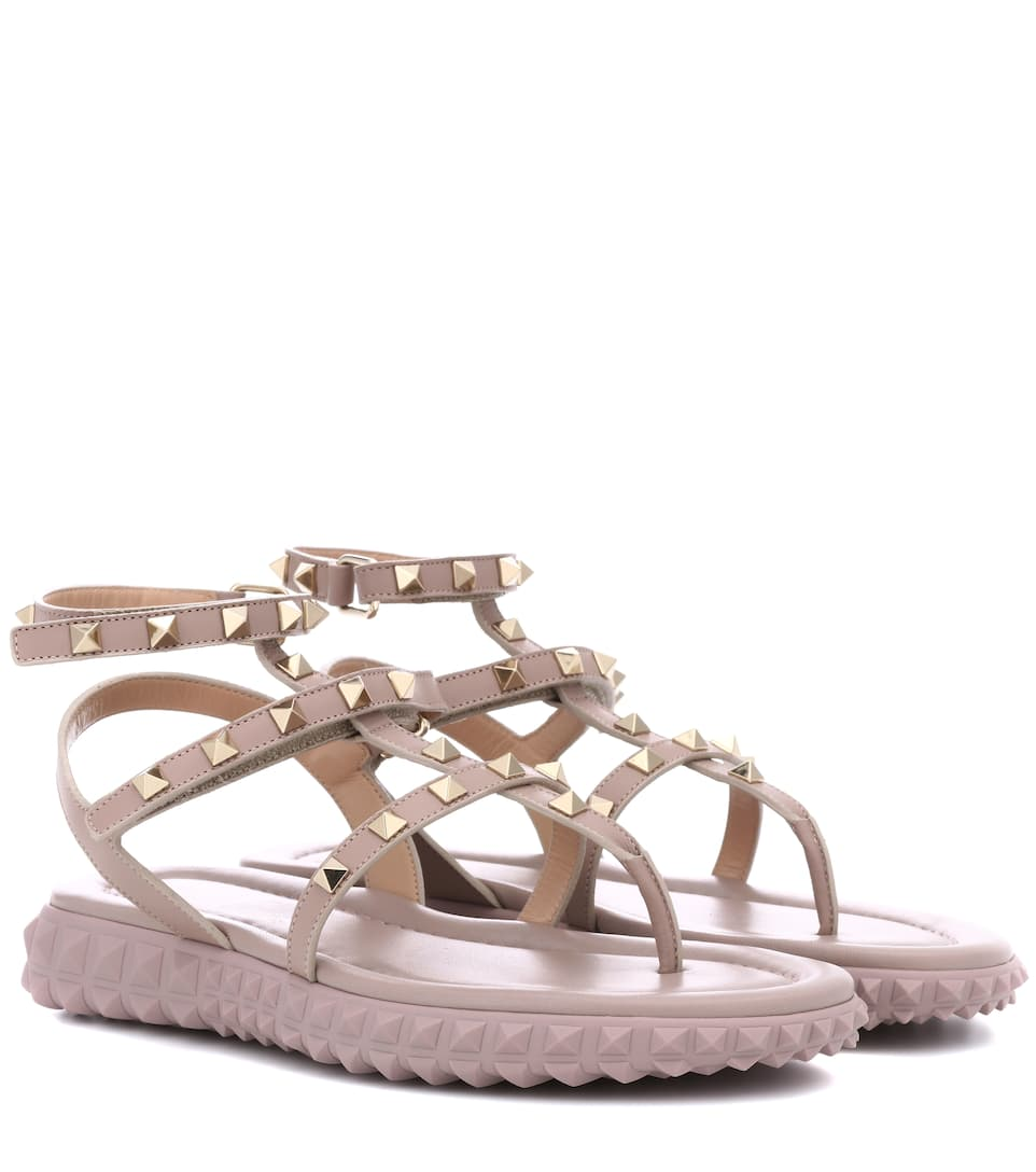 Garavani Free Rockstud leather sandals Valentino
