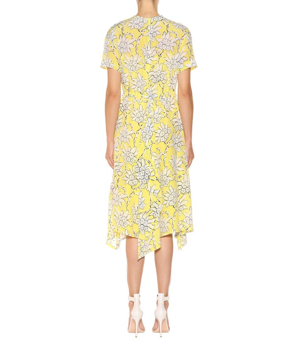 Valentino Bedrucktes Kleid aus Crêpe de Chine Freies Verschiffen 2018 Rabatt Beste tfim2mq