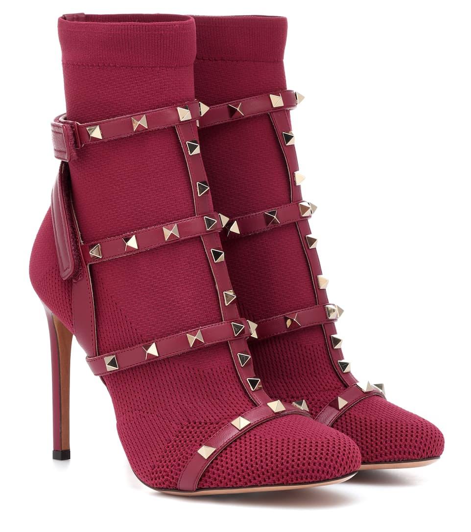 b4894d5a10c6 Valentino Garavani Rockstud Bodytech Ankle Boots - Valentino