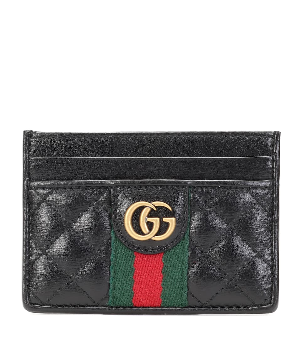 5b4b68f0114f5 Double G Leather Card Holder - Gucci