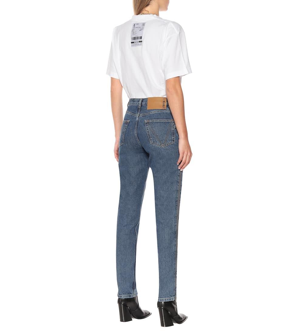 Jeans Regular A Vita Alta - Vetements