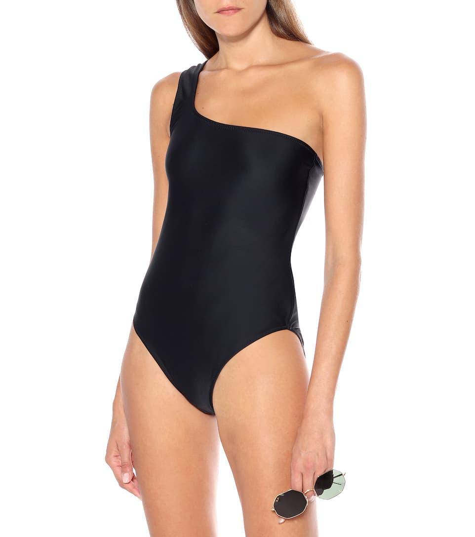 One Shoulder Black Swimsuit