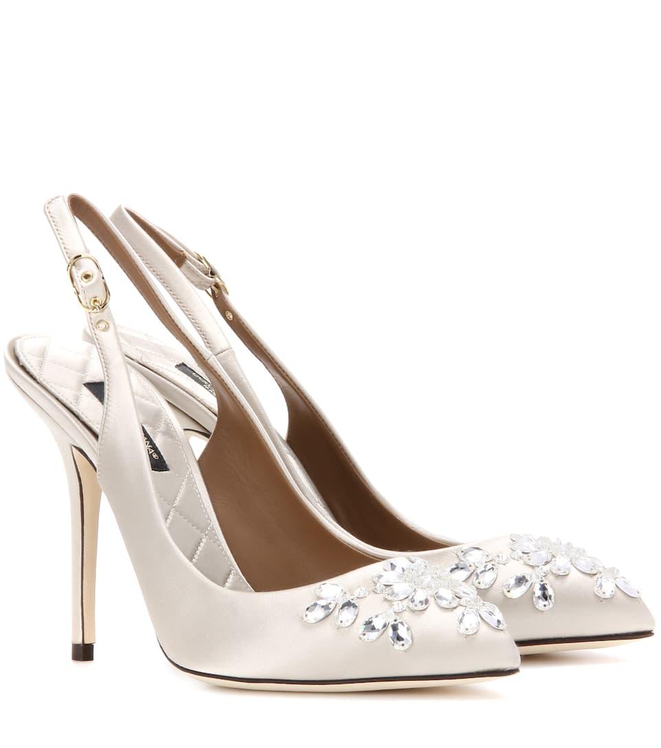 Dolce & Gabbana Bellucci embellished slingback pumps