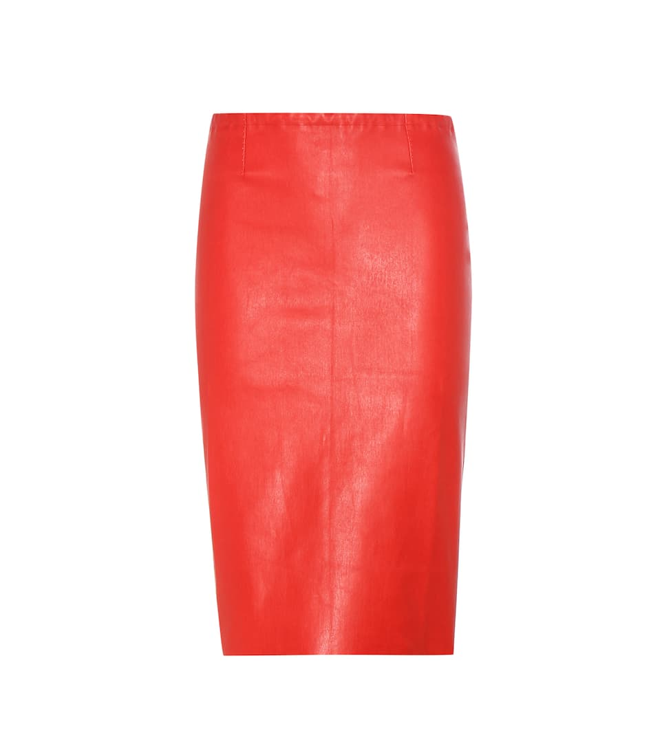 Stouls Gilda leather pencil skirt