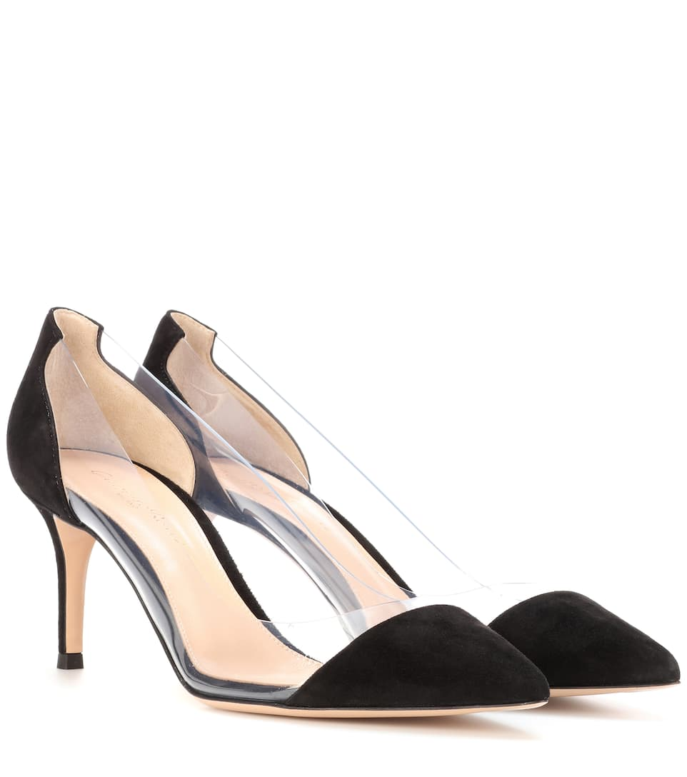 Gianvito Rossi Plexi suede and transparent pumps cheap sale pick a best buy cheap 2014 new k0DVaD