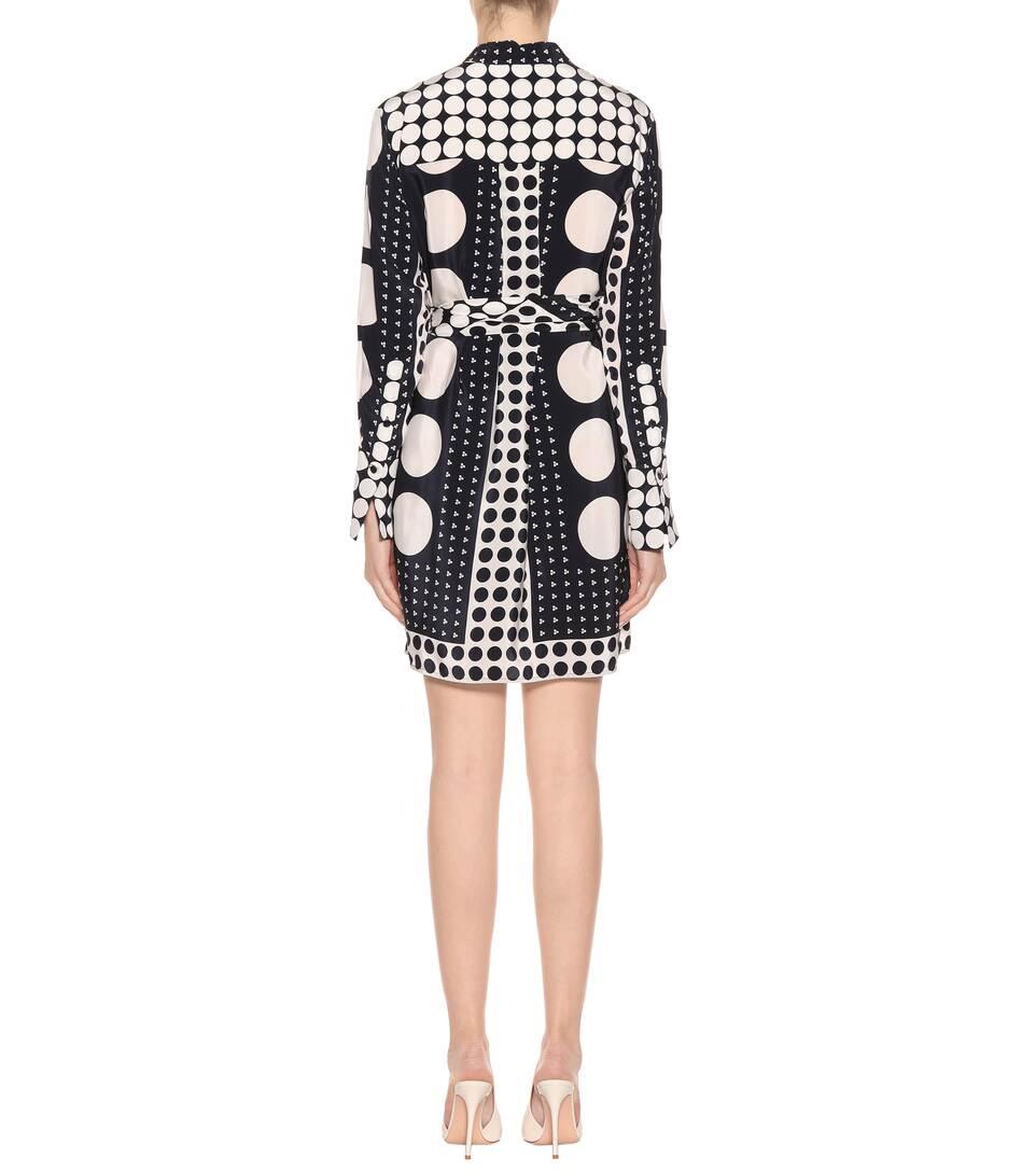Diane von Furstenberg Hemdblusenkleid aus Seidencrêpe