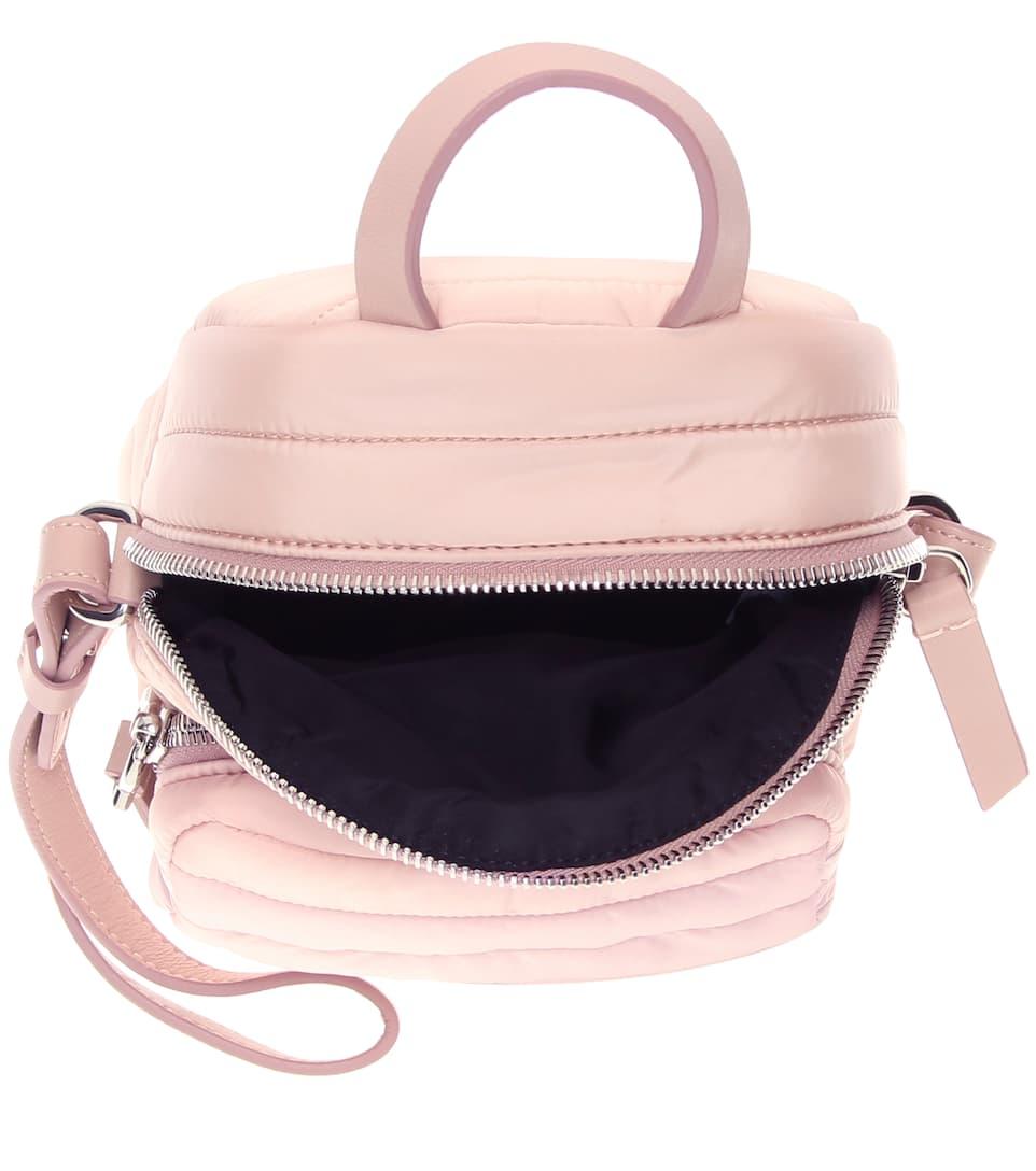 adornos rosa bandolera Bolso de polvo Moncler cuero con PT8qHw