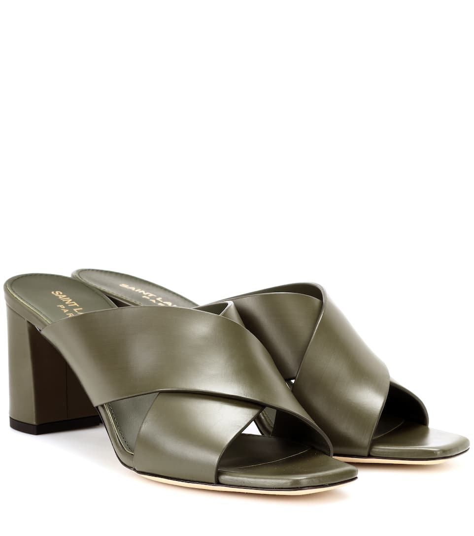 Saint Laurent Mules Loulou 70 Of Leather
