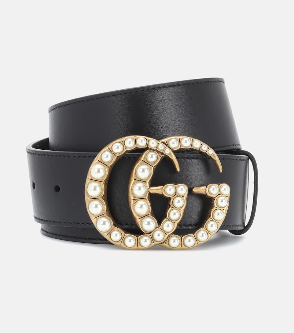 Cintura In Pelle Con Cristalli by Gucci