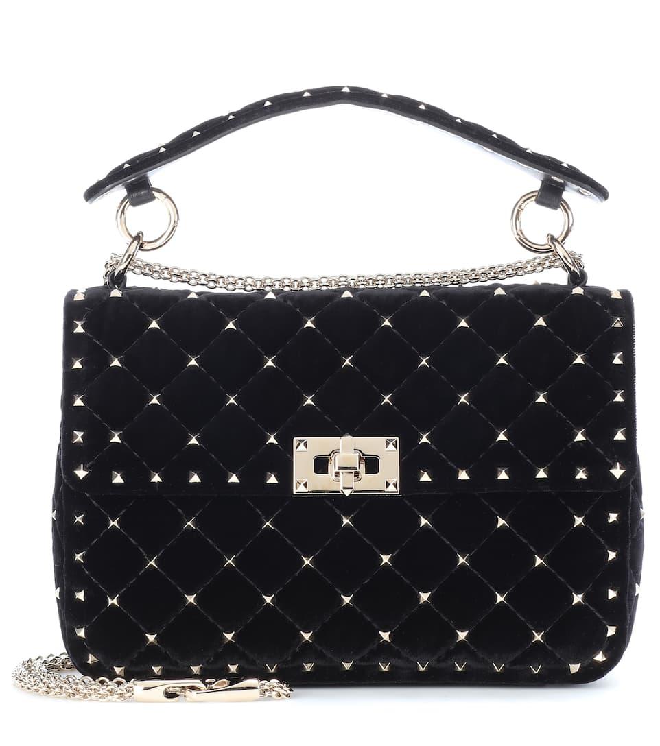 851e4acc5d Valentino Garavani Rockstud Spike Velvet Shoulder Bag
