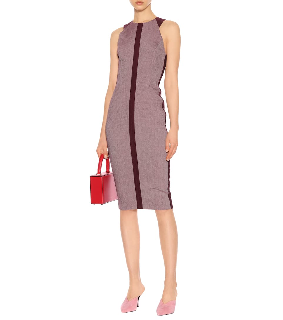 Victoria Beckham Midi Dress With A Cotton-share