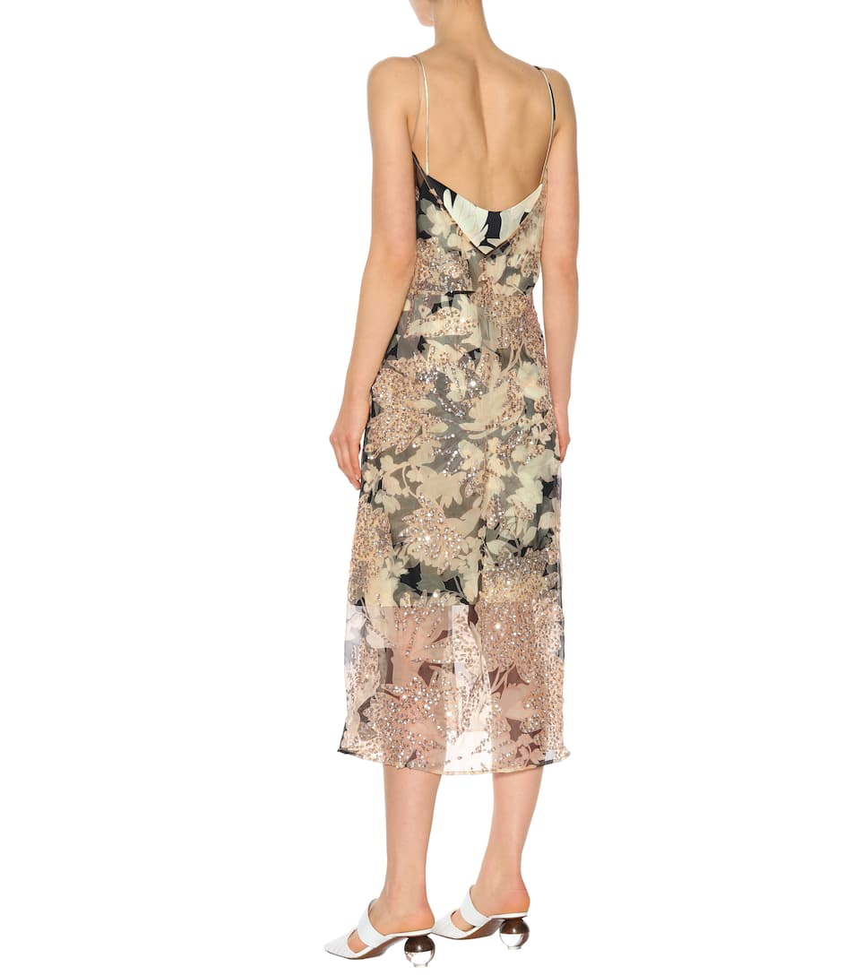 Dries Van Noten Silk Sequined Dress