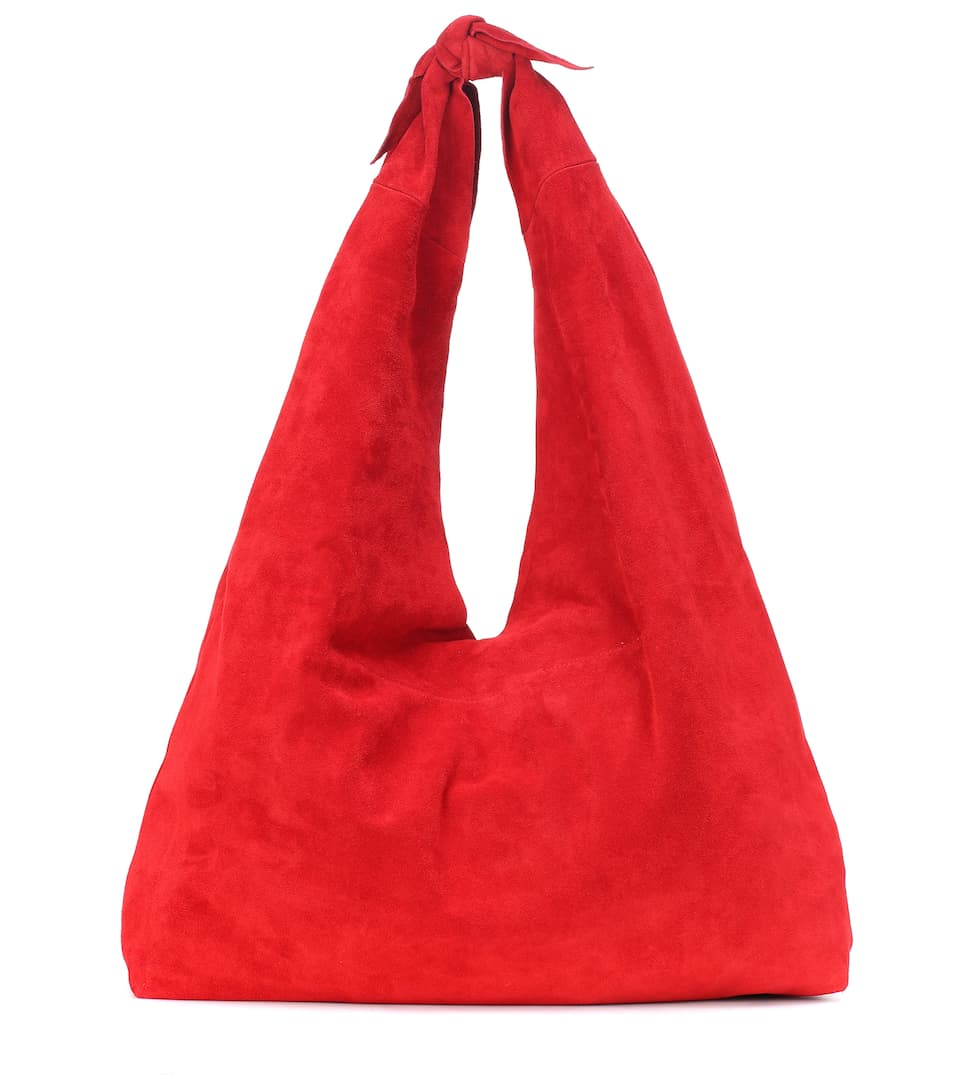 9e47ac0ce1 Bindle Knot Suede Shoulder Bag - The Row