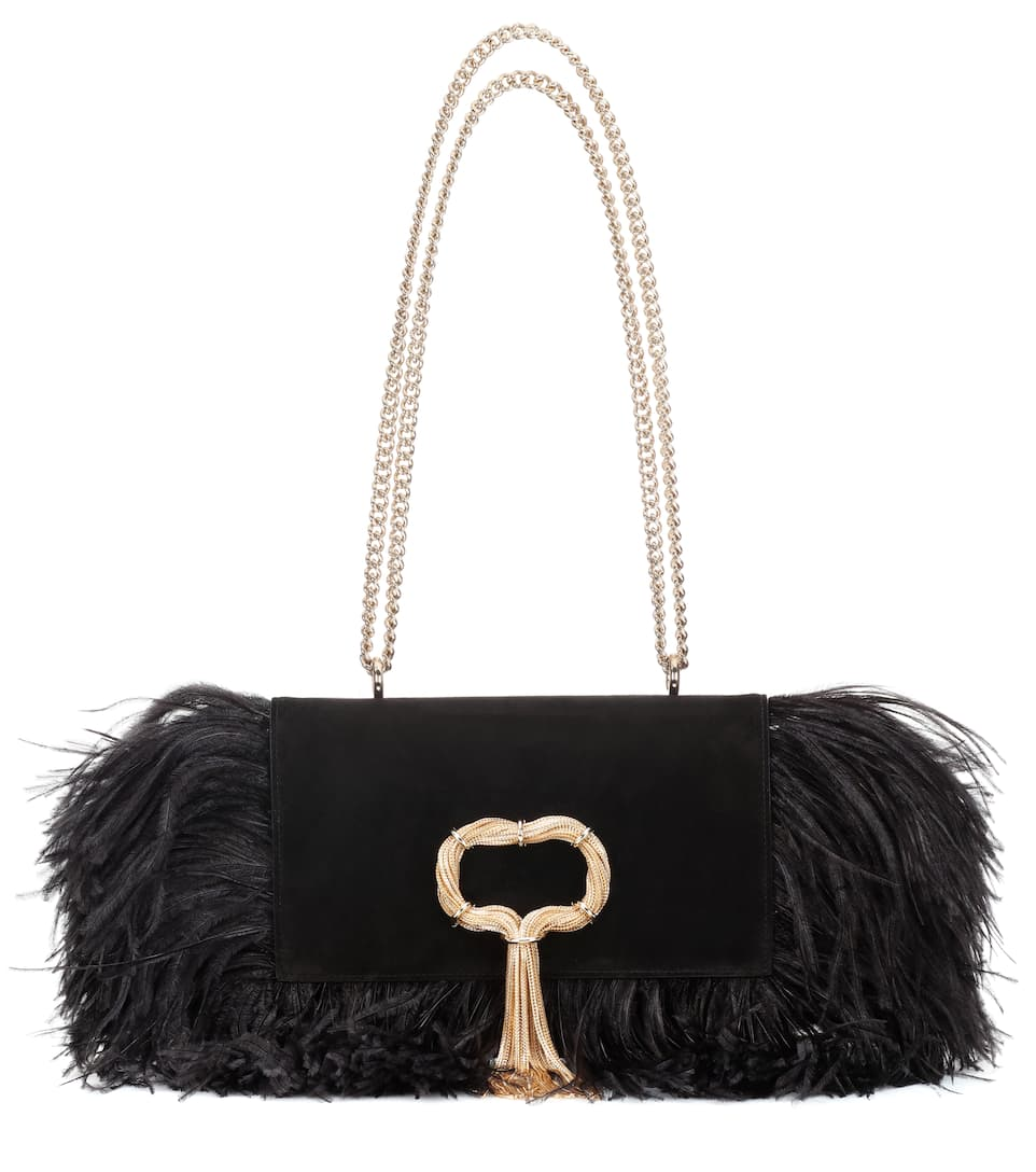 8a44232b5f Club Chain Feathers Shoulder Bag - Roger Vivier