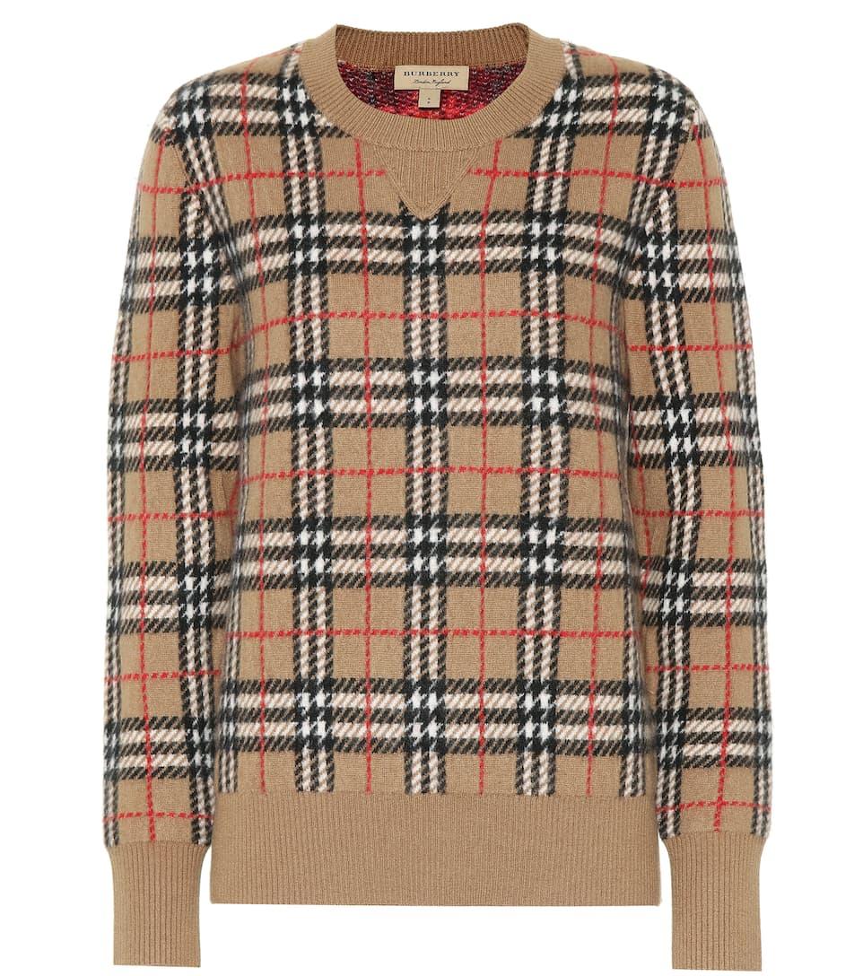 b87742932da46 Vintage Check Cashmere Sweater