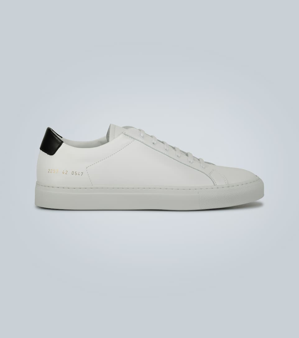 Retro Low Leather Sneakers | Common
