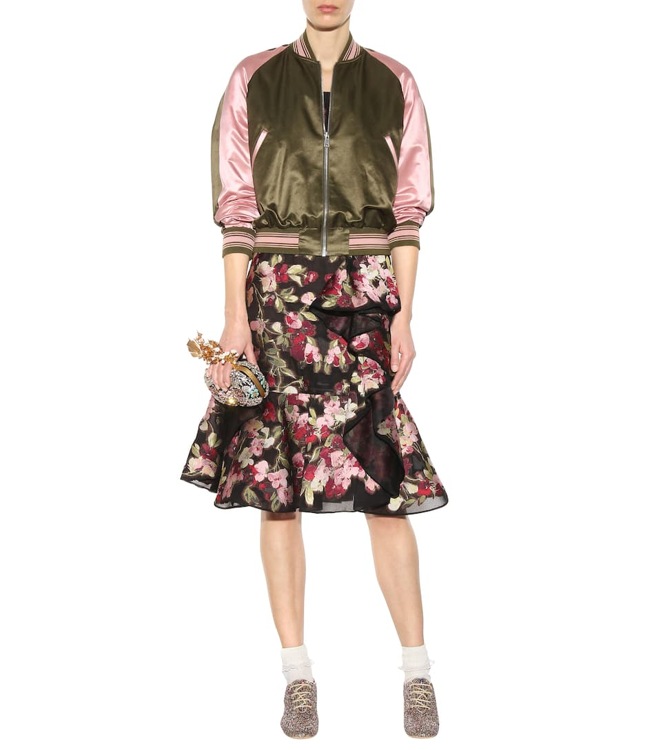 Mytheresa  Embroidered Cotton And Silk Bomber Jacket