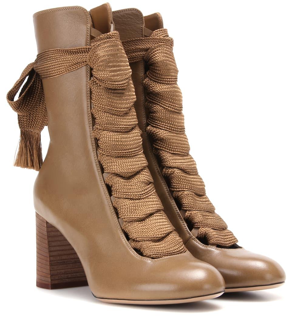 harper leather boots chlo mytheresa. Black Bedroom Furniture Sets. Home Design Ideas
