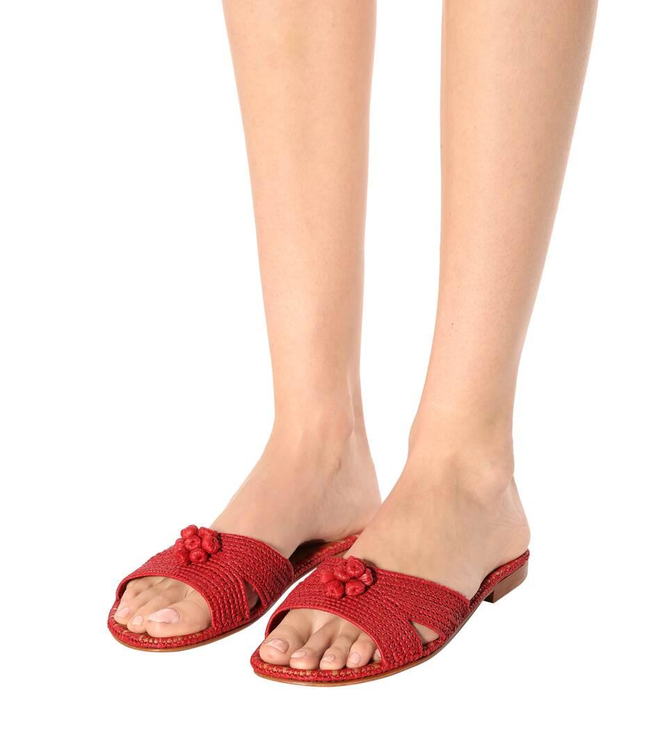 Carrie Forbes Pantoletten aus Bast