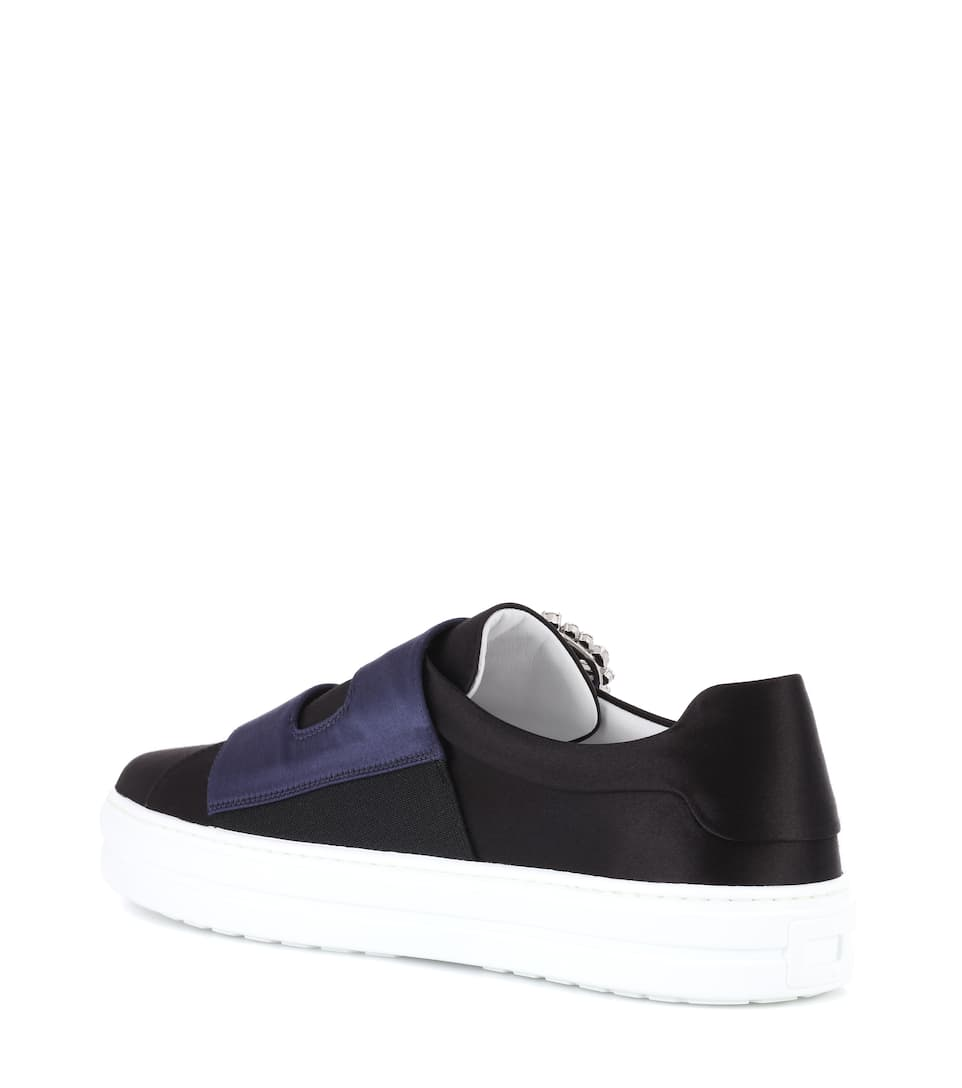 Roger Vivier Sneakers Sneaky Viv Double Buckle Aus Satin