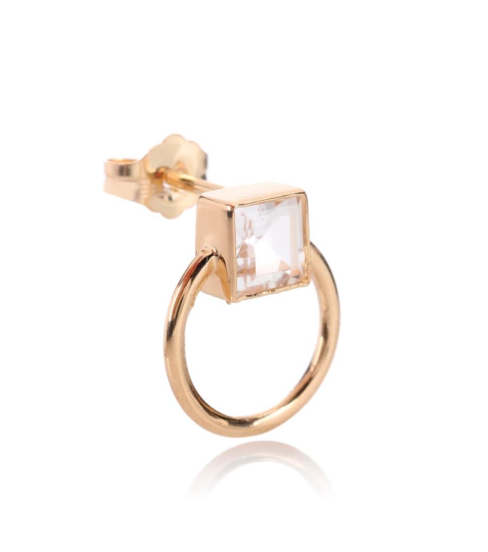 Loren Stewart Door Knocker 14kt gold and topaz earrings DVug64I0J1