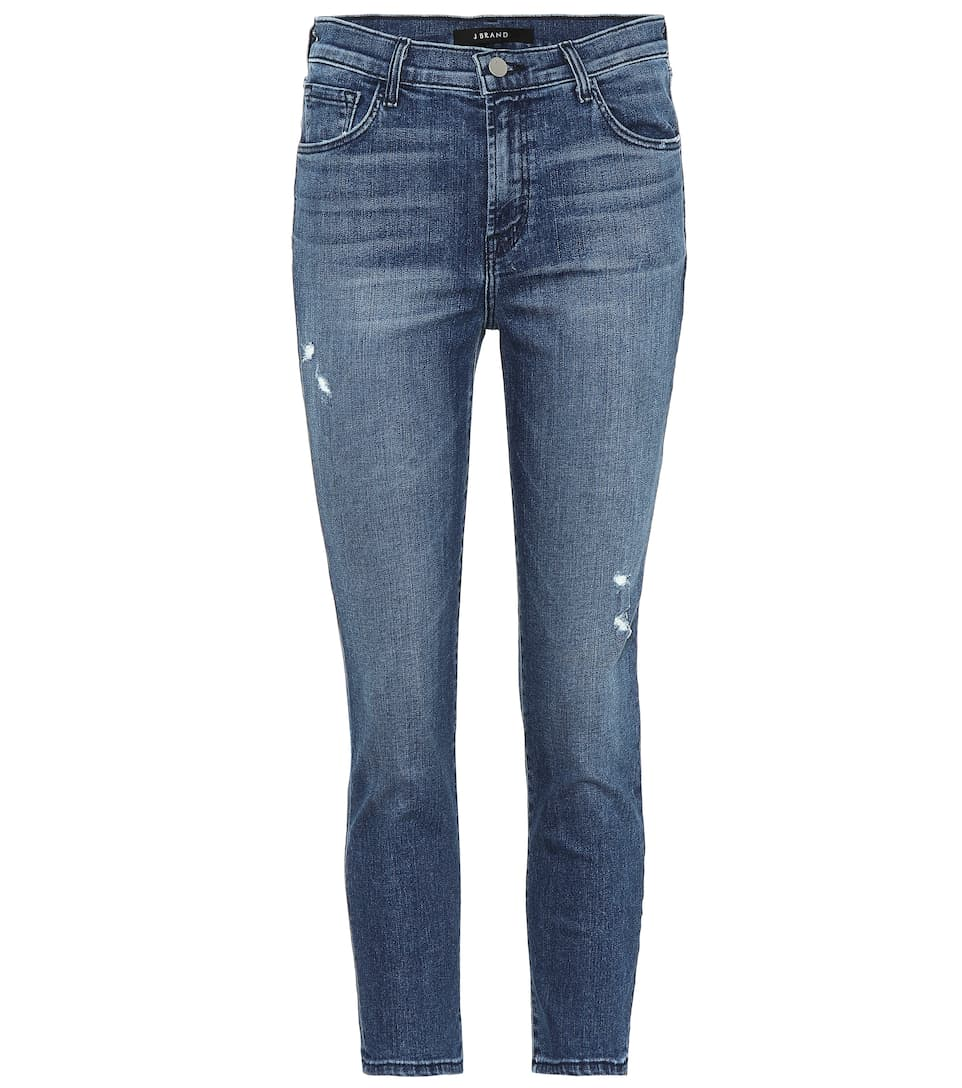 Ruby Cropped High Rise Skinny Jeans by J Brand