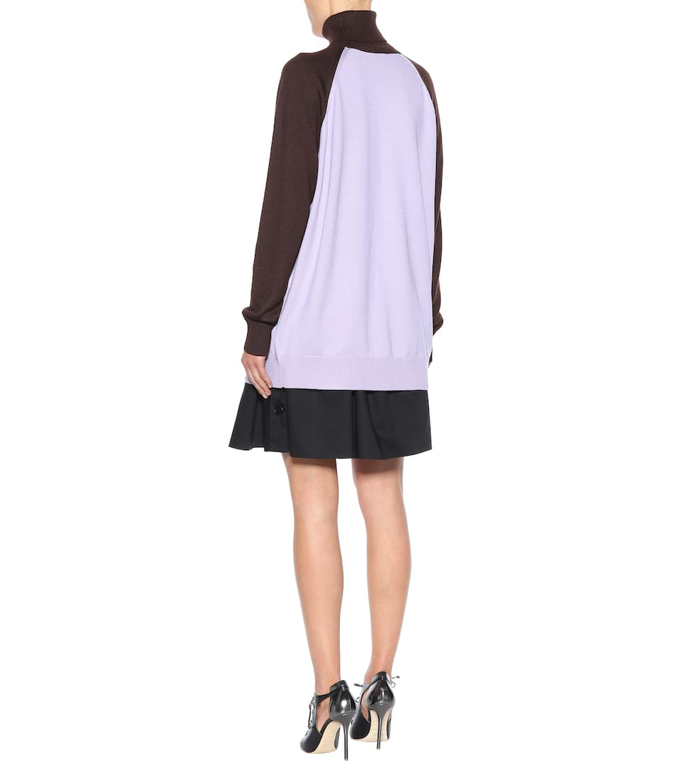 Miu Miu Wool ghost turtleneck sweater Glicine Outlet Eastbay Free Shipping Best Store To Get Manchester Cheap Get Authentic c4Ofno