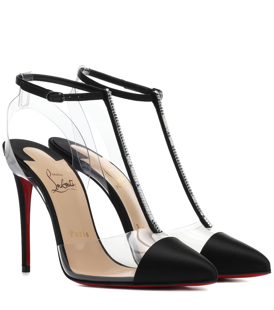 Nosy Strass 100 Satin Pumps by Christian Louboutin