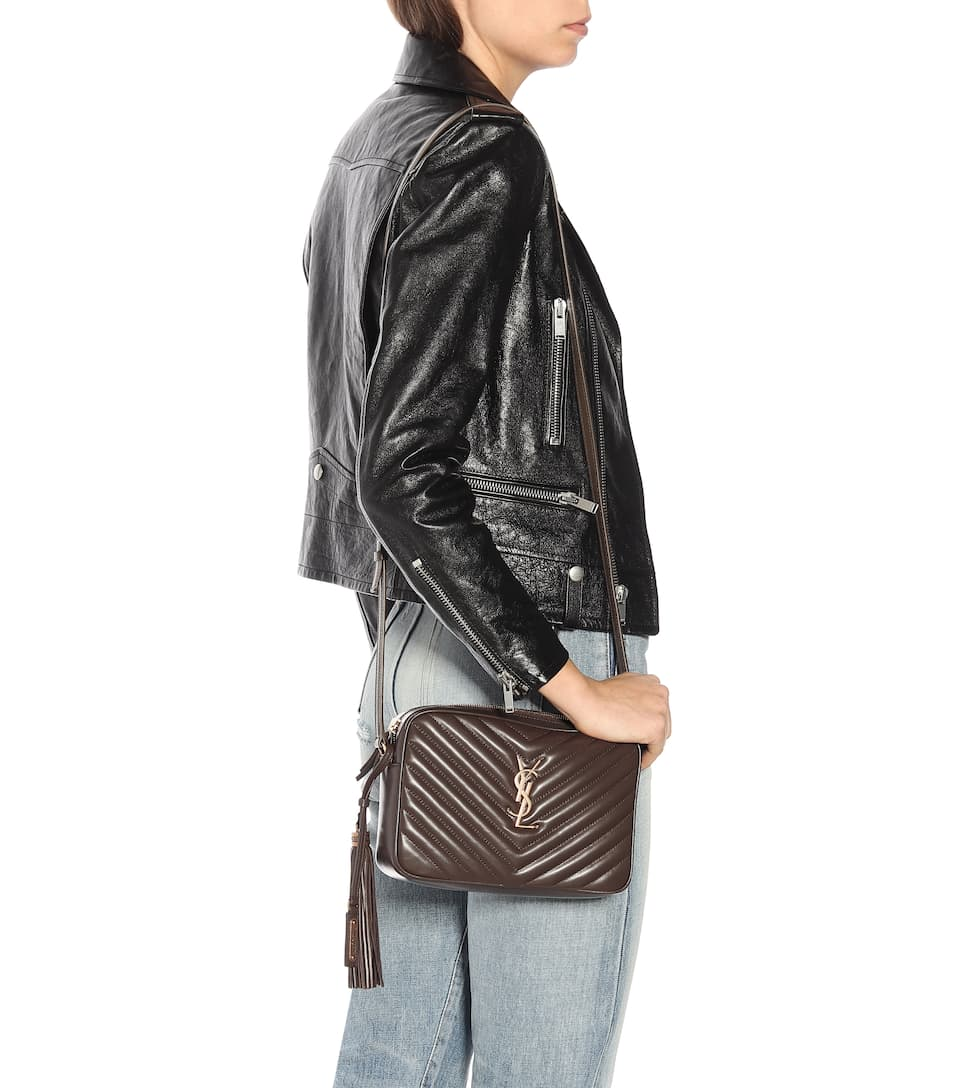 Lou Camera Leather Crossbody Bag , Saint Laurent