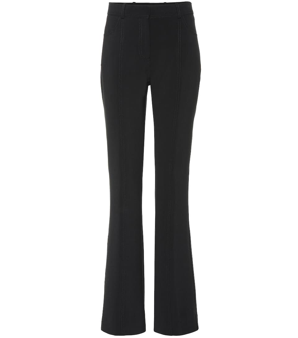 Mid Rise Flared Wool Blend Pants by Victoria Victoria Beckham